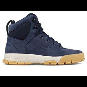 Nike Air Nevist 6 Sneaker Boot Blue Leather M Sz 9
